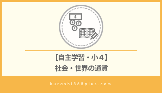 【自主学習】小学4年生・社会[世界の通貨]